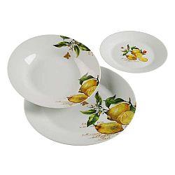 18dílný set talířů z porcelánu Versa Lemon