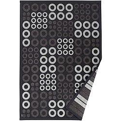 Antracitově šedý vzorovaný oboustranný koberec Narma Kupa, 70 x 140cm