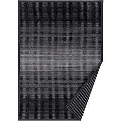 Antracitově šedý vzorovaný oboustranný koberec Narma Moka, 140 x 200cm
