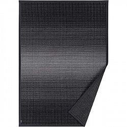 Antracitově šedý vzorovaný oboustranný koberec Narma Moka, 70 x 140cm