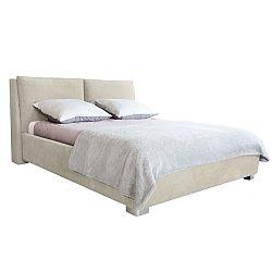 Béžová dvoulůžková postel Mazzini Beds Vicky, 160x200cm