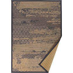 Béžový vzorovaný oboustranný koberec Narma Nehatu, 70 x 140cm
