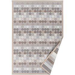 Béžový vzorovaný oboustranný koberec Narma Pallika, 70 x 140cm