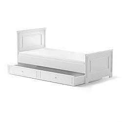 Bílá dětská postel se zásuvkou BELLAMY Ines, 90x200cm