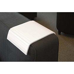 Bílá dubová odkládací plocha na područku sedačky Rowico
