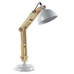 Bílá stolní lampa Geese Wooden