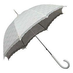 Bílý holový deštník Ambiance Falconetti Victorian Lace, ⌀85cm