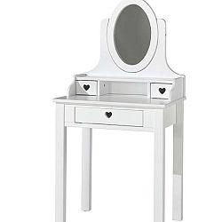 Bílý toaletní stolek Vipack Amori, výška 136 cm