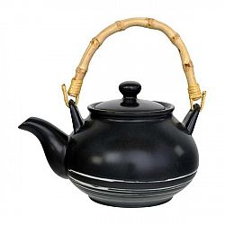 Černá konvička na čaj Tokyo Design Studio Maru,500ml