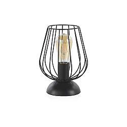Černá kovová stolní lampa Geese, výška 26 cm
