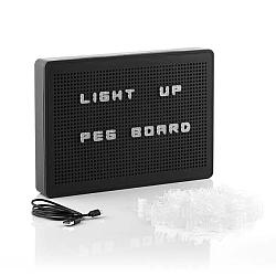 Černá LED světelná tabule s písmenky InnovaGoods