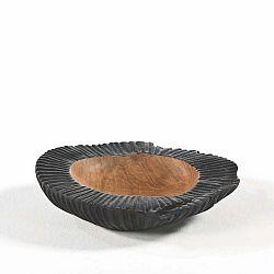 Černá miska ze dřeva a keramiky Thai Natura, ø 30 cm
