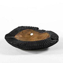 Černá miska ze dřeva a keramiky Thai Natura, ø 40 cm