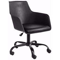 Černá nastavitelná kancelářská židle Støraa Leslie