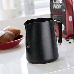 Černá nerezová mléčenka Steel Function, 1 l