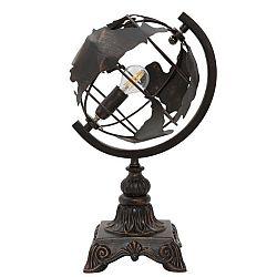 Černá stolní industriální lampa Mauro Ferretti World