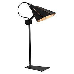Černá stolní lampa Glimte Zambia