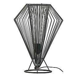 Černá stolní lampa Vox Cesto, ⌀31cm