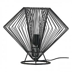 Černá stolní lampa Vox Cesto, ⌀37cm