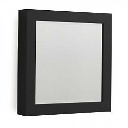 Černé nástěnné zrcadlo Geese Thick, 40x40cm