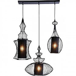 Černé stropní svítidlo Kare Design Swing Iron Tre