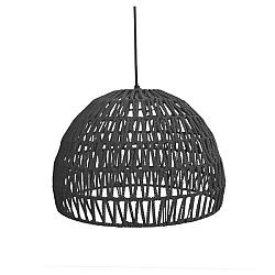 Černé stropní svítidlo LABEL51 Rope, ⌀50 cm