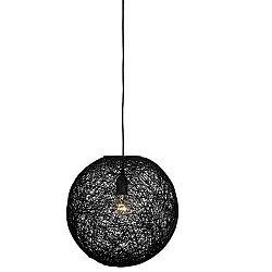 Černé stropní svítidlo LABEL51 Twist, ⌀ 45 cm