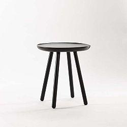 Černý odkládací stolek z masivu EMKO Naïve Small, ø45cm