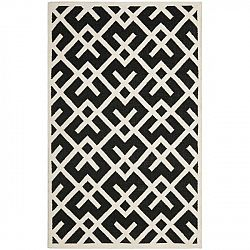 Černý vlněný koberec Safavieh Marion, 121x182 cm