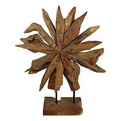 Dekorace  z teakového dřeva HSM collection Sunflower, 40x50cm