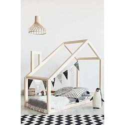 Domečková postel z borovicového dřeva Adeko Mila DM,135x190cm