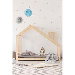 Domečková postel z borovicového dřeva Adeko Mila DMS, 70x140cm