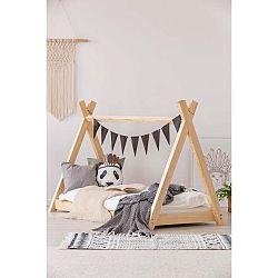 Domečková postel z borovicového dřeva Adeko Mila TP,70x160cm