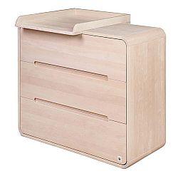 Dřevěný prádelník se 3 zásuvkami a snímatelným přebalovacím pultem YappyKids Owl