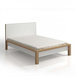 Dvoulůžková postel z borovicového dřeva s úložným prostorem SKANDICA InBig, 140x200cm
