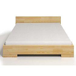 Dvoulůžková postel z borovicového dřeva s úložným prostorem SKANDICA Spectrum, 200x200cm