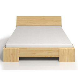 Dvoulůžková postel z borovicového dřeva s úložným prostorem SKANDICA Vestre Maxi, 180x200cm