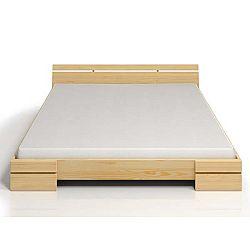 Dvoulůžková postel z borovicového dřeva SKANDICA Sparta, 160x200cm
