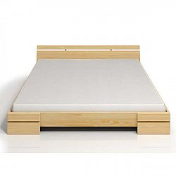 Dvoulůžková postel z borovicového dřeva SKANDICA Sparta Maxi, 140x200cm