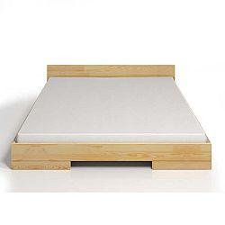 Dvoulůžková postel z borovicového dřeva SKANDICA Spectrum, 140x200cm