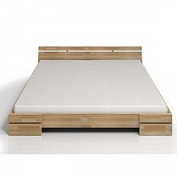 Dvoulůžková postel z bukového dřeva SKANDICA Sparta, 200x200cm
