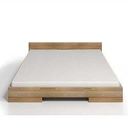 Dvoulůžková postel z bukového dřeva SKANDICA Spectrum, 200x200cm