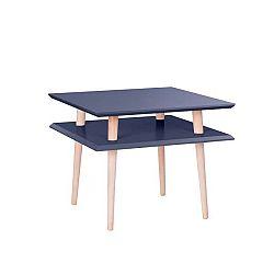 Grafitově šedý konferenční stolek Ragaba Square, 55x55cm