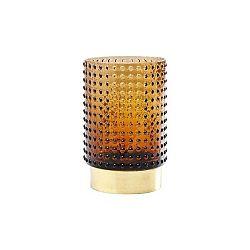 Hnědá váza Kare Design Barfly Brown, 14cm