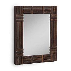 Hnědé nástěnné zrcadlo Geese, 57x70cm