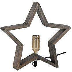 Hnědošedá dřevěná svítící hvězda Best Season Lysekil, 30 x 29 cm