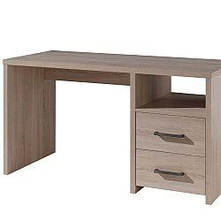 Hnědý psací stůl Vipack Aline, délka 66 cm