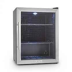Klarstein Beersafe XL, chladnička s objemem 65 l, energetická třída B, skleněné dveře, nerezová ocel