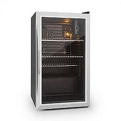 Klarstein Beersafe XXL, chladnička s objemem 85 l, energetická třída C, skleněné dveře, nerezová ocel