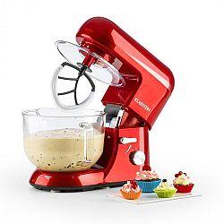 Klarstein Bella Rossa 2G, kuchyňský robot, 1200 W, 2,5 / 5,2 l, skleněná miska, červená barva